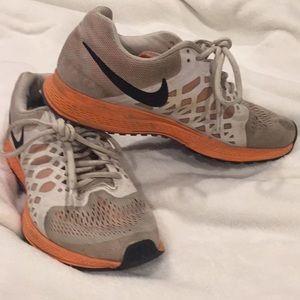 White and Orange Nikes
